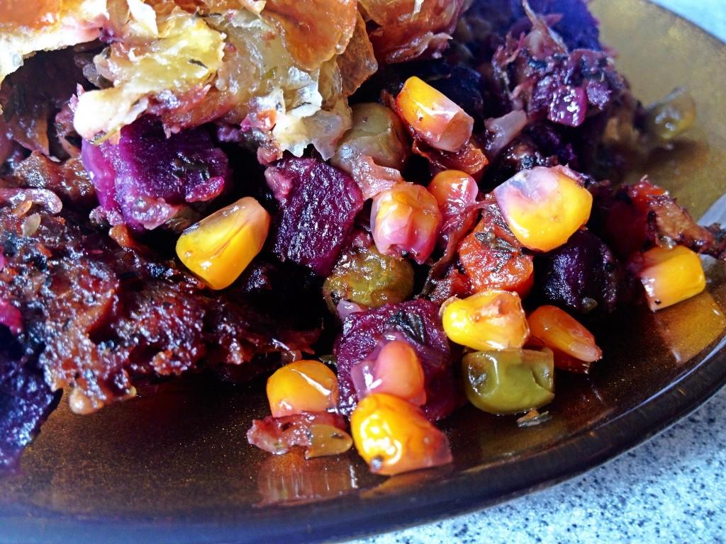 vegetables and pork