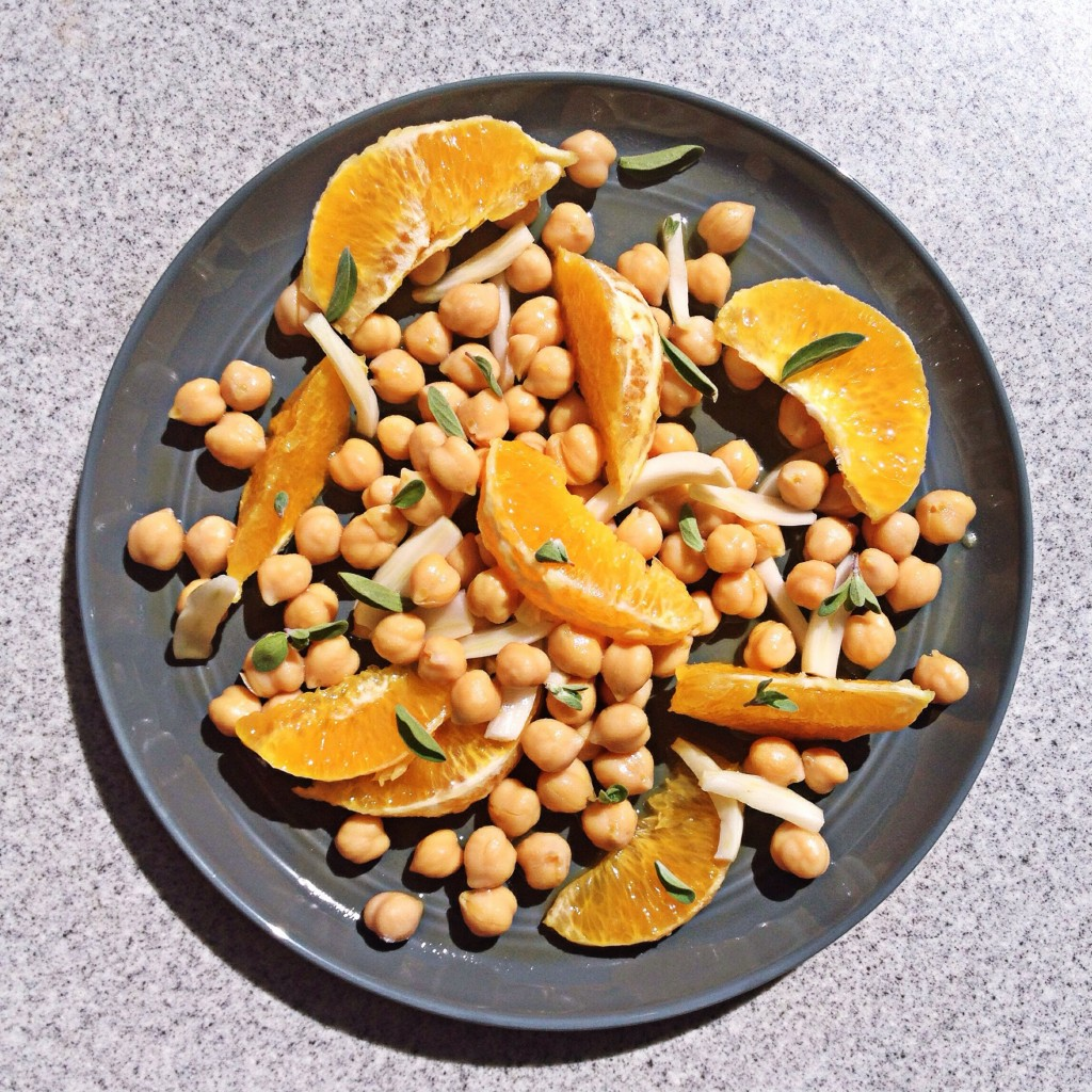 chickpea salad with oranges and fennel
